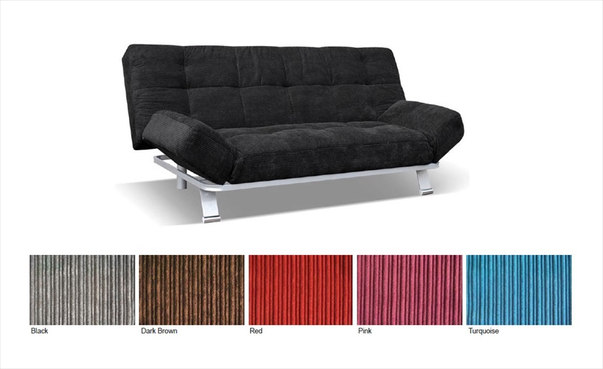 Monroe 3 Seater Fabric Sofa Bed