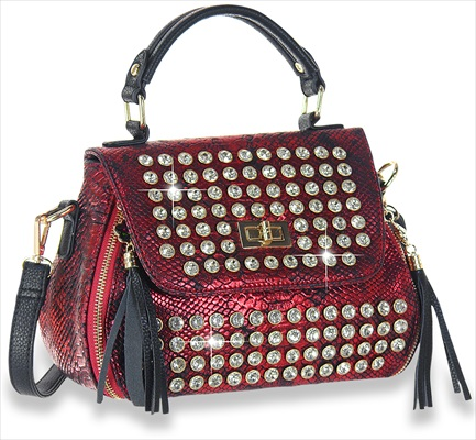 Petite Front Flap Shoulder Bag Burgundy
