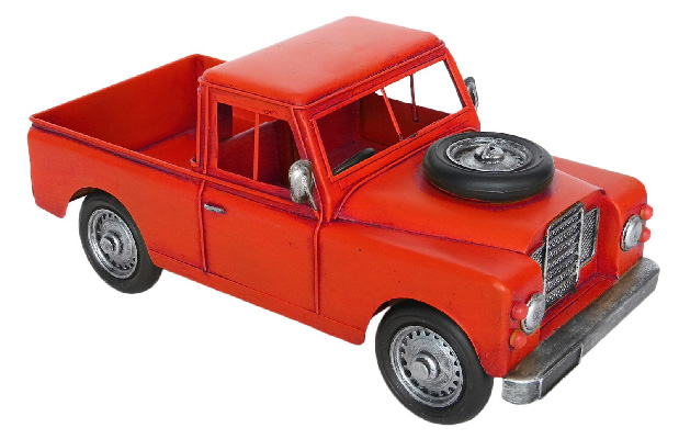 Repro Tin Red Pick Up Truck