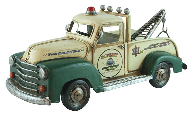 Old Repro Tin Plate Tow Truck