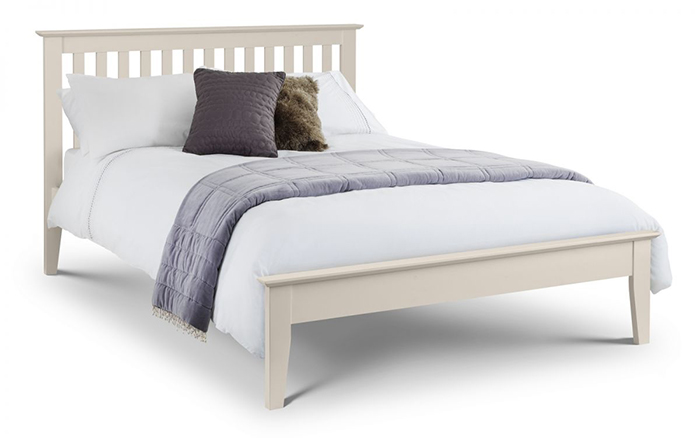 Salerno Shaker Bed Ivory Double