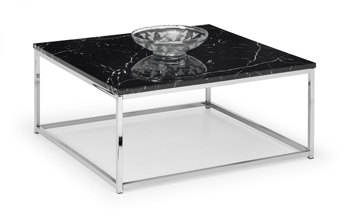 Scala Black Marble Top Coffee Table