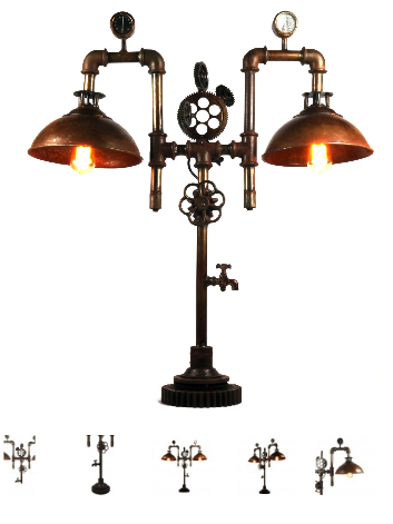 Steampunk Lamp Double