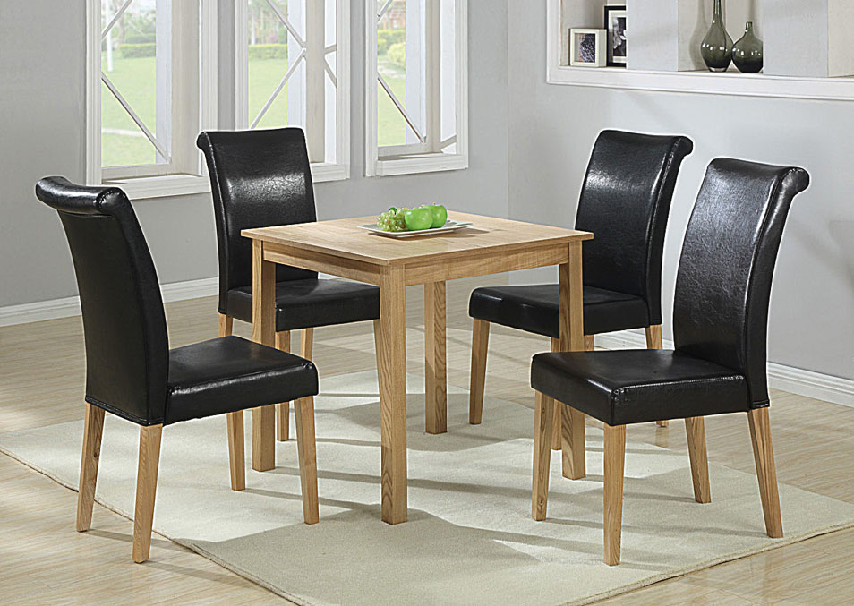 Strand Solid Ash with Ash Veneer Table & 4 Chairs