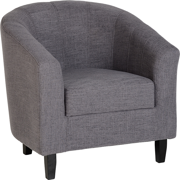 Tempo Tub Chair In Grey Fabric