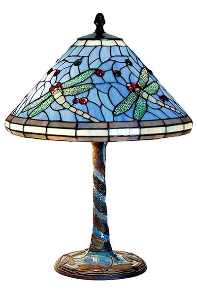 Tiffany Dragonfly Shade & Base Table Lamp
