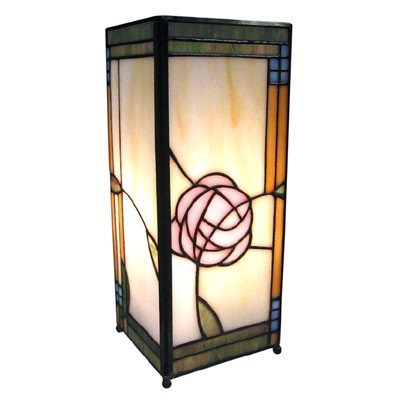 Tiffany mackintosh Style Square Lamp