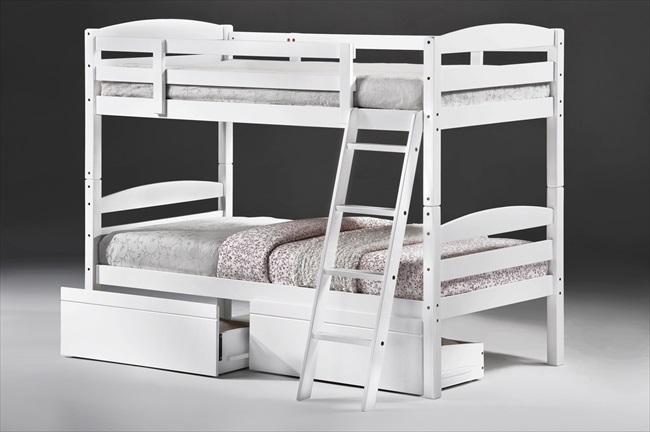 Tripoli White Bunk Beds