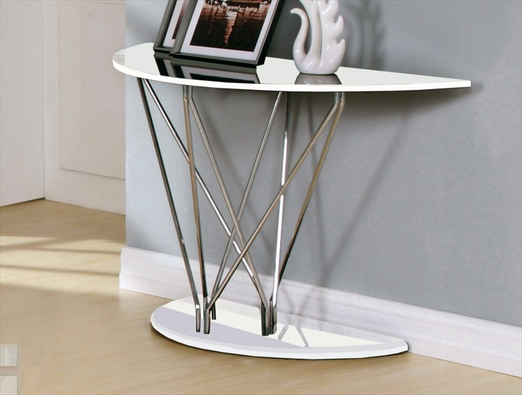 Uplands White High Gloss Console Table