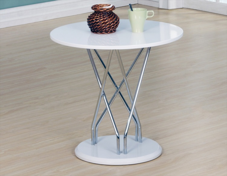 Uplands White High Gloss Lamp Table
