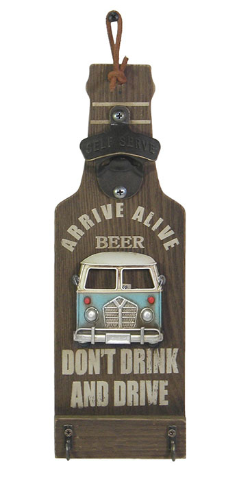 Camper Van Design Wall Bottle Opener