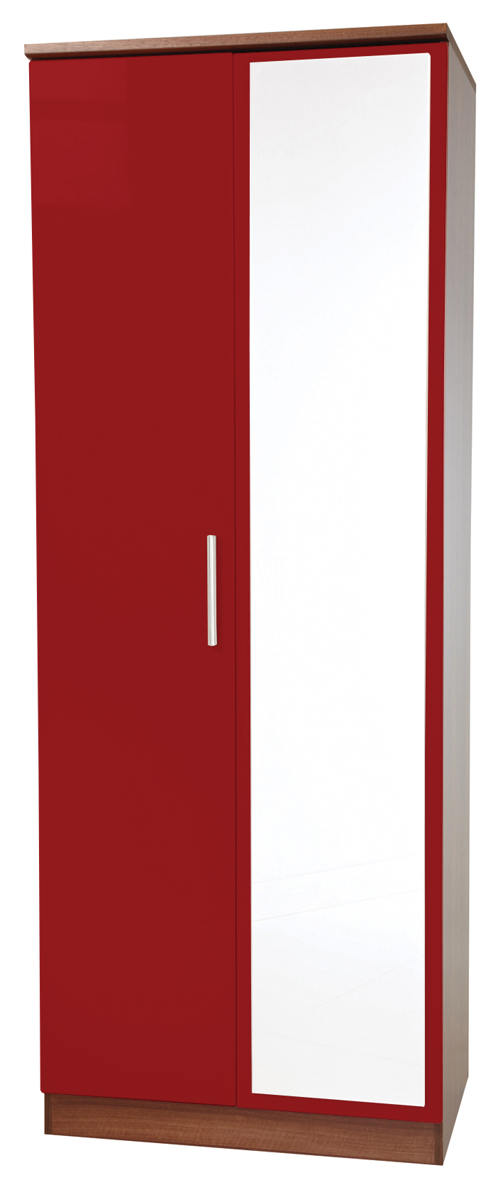 "KNIGHTSBRIDGE 30"" (HI/GLOSS) MIRROR WARDROBE"