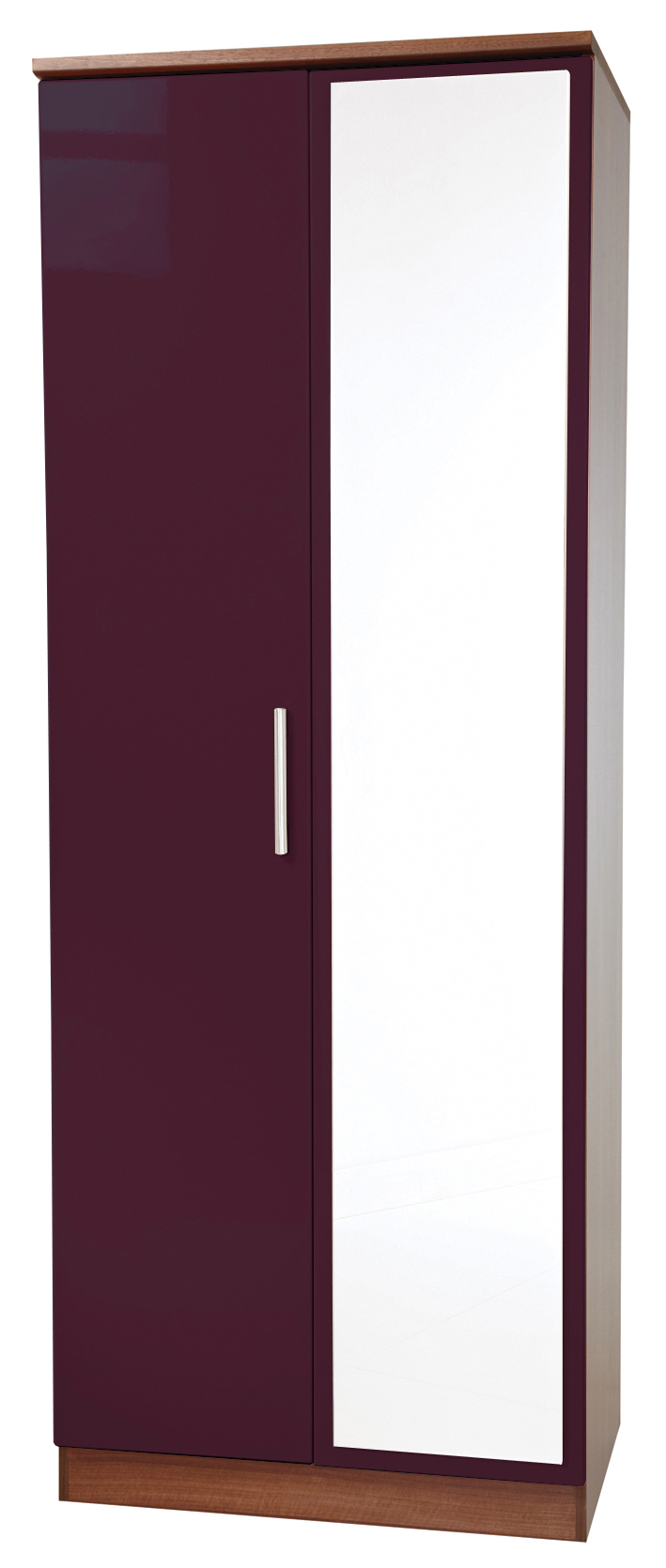 "KNIGHTSBRIDGE 30"" (HI/GLOSS) MIRROR WARDROBE - Click Image to Close"