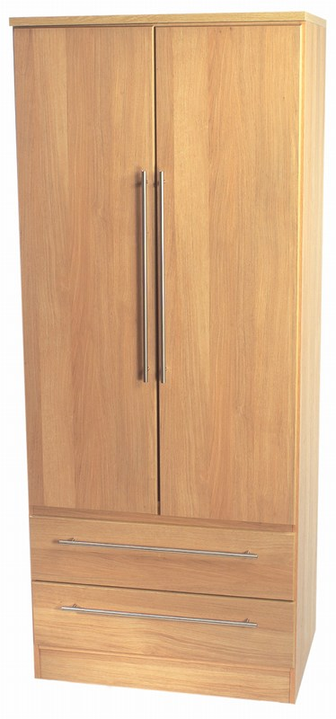 SHERWOOD TALL MIRROR WARDROBE ( OAK / WALNUT OR MAPLE FINISH)