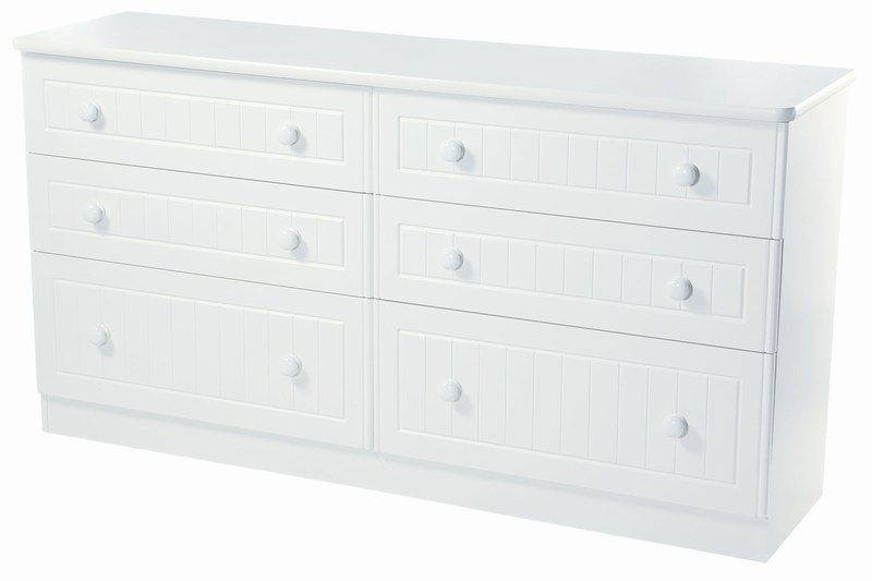 CONISTON RANGE (WHITE OR CREAM) 6 DRAWER MIDI CHEST