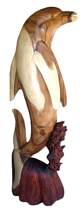 Wooden Dolphin - Click Image to Close