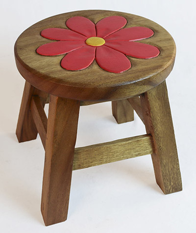 Wooden Pink Flower Plant Stand