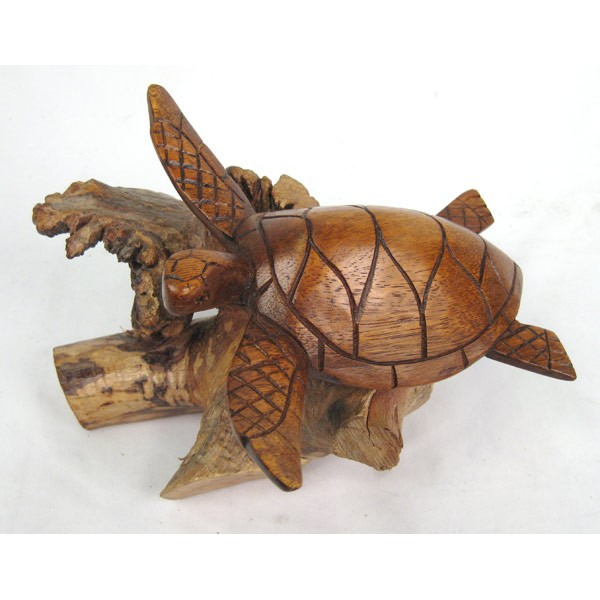 Wooden Turtle On Parasite Wood
